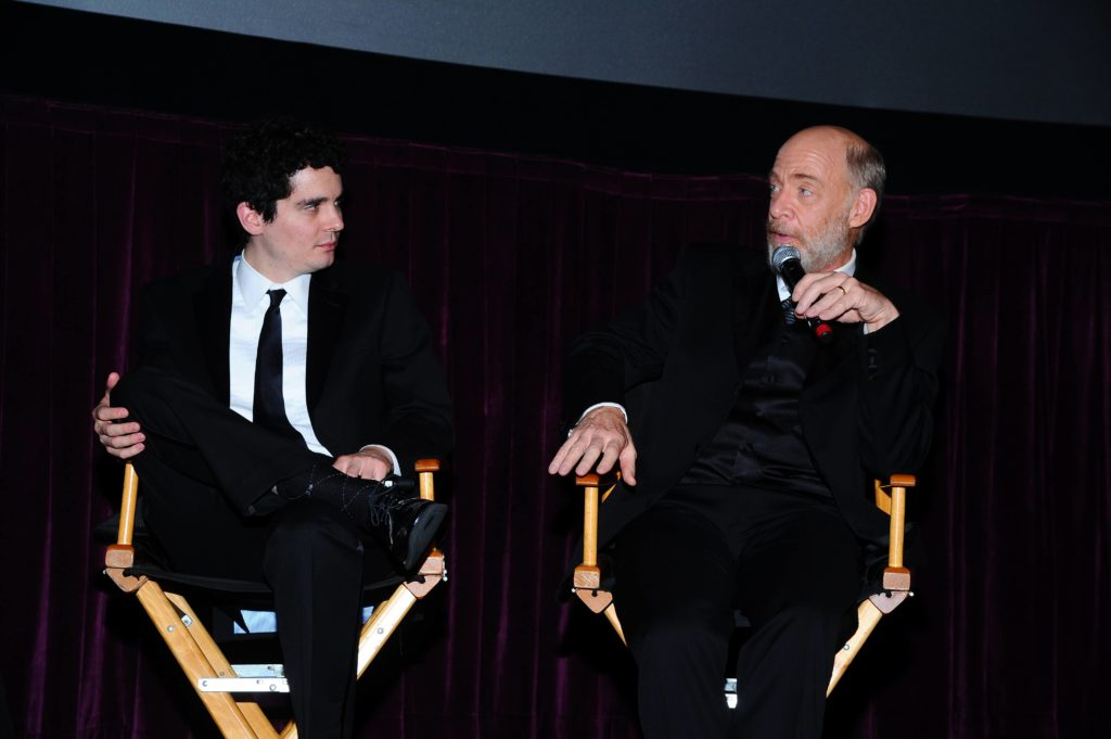 Damien Chazelle and J.K. Simmons