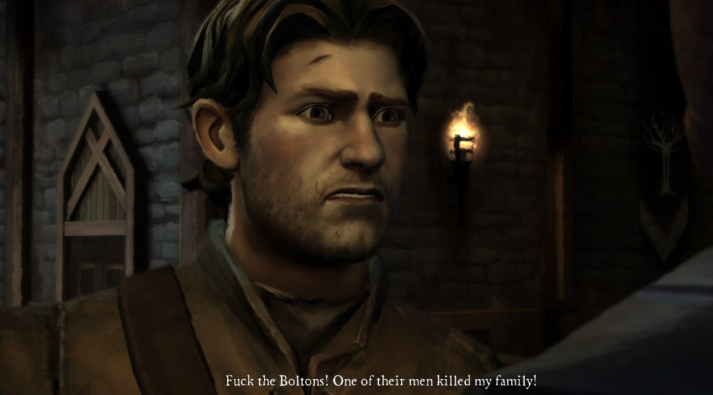 Telltale Game of Thrones Fuck the Boltons