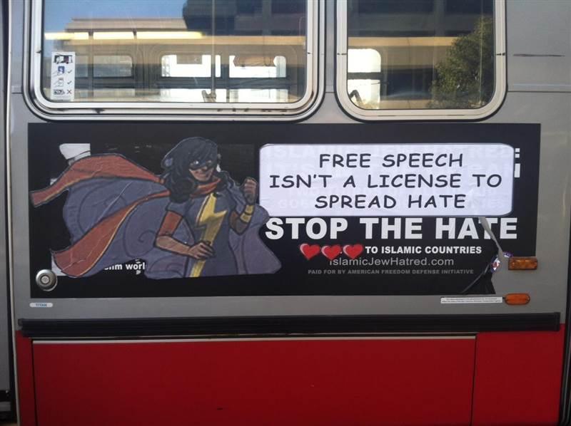 kamala khan awesome bus ad