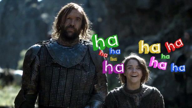 arya laughing