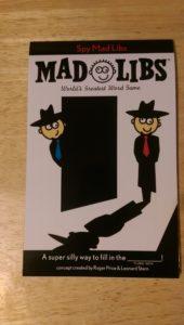 Spy Mad Libs