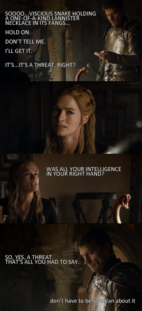 game of thrones house of black and white cersei jaime dorne