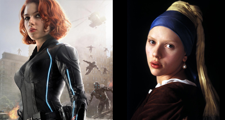 scarlett johansson black widow girl with a pearl earring