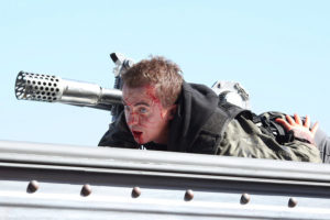 SHARKNADO 3: OH HELL NO! -- Pictured: Frankie Munoz as Lucas -- (Photo by: Raymond Liu/Syfy)