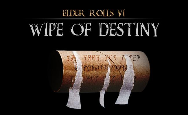 elder rolls wipe of destiny bethesda fallout