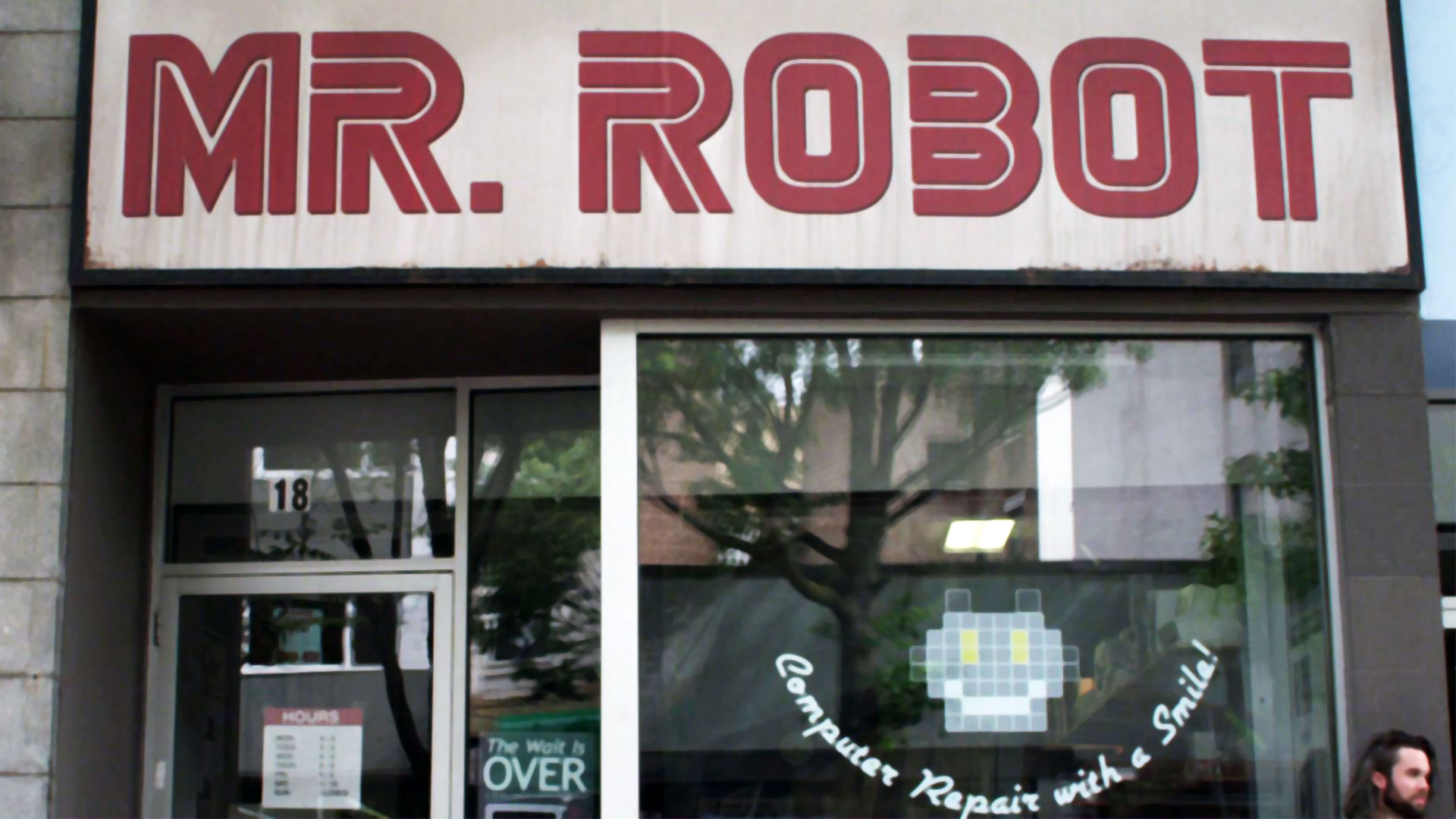 Mr Robot repair shop sign