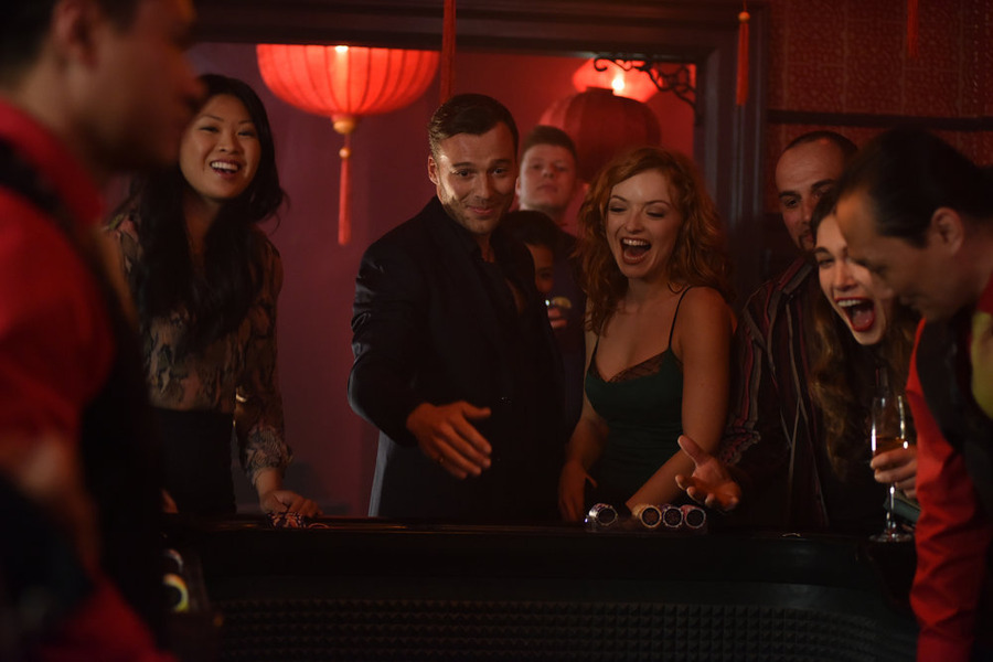 "HEROES REBORN -- ""Brave New World / Odessa"" Episode 101/102 -- Pictured: (l-r) Peter Mooney as Francis Culp, Francesca Eastwood as Molly Walker -- (Photo by: John Medland/NBC)"