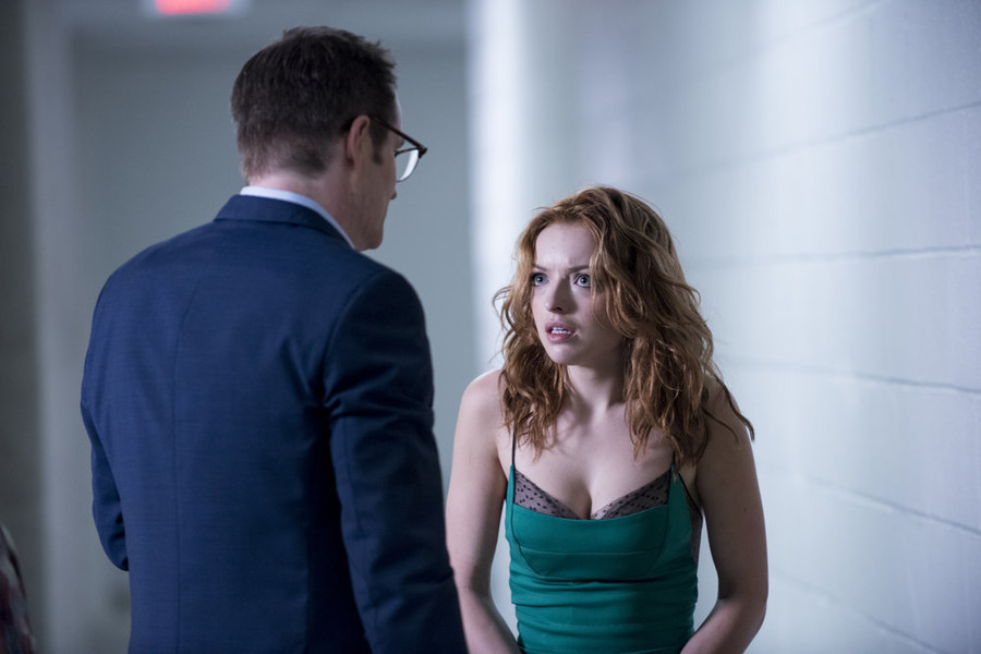 """HEROES REBORN -- """"Under the Mask"""" Episode 103 -- Pictured: (l-r) Jack Coleman as HRG, Francesca Eastwood as Molly -- (Photo by: Christos Kalohoridis/NBC)"""