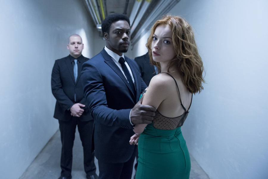 "HEROES REBORN -- ""Under the Mask"" Episode 103 -- Pictured: (l-r) Cle Bennett as Harris Clone, Francesca Eastwood as Molly Walker -- (Photo by: Christos Kalohoridis/NBC)"