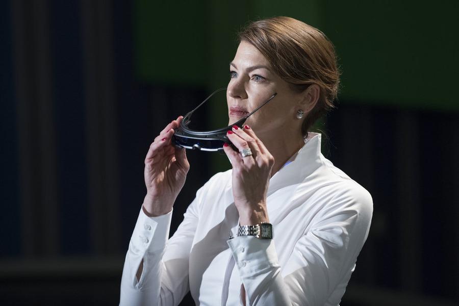 "HEROES REBORN -- ""Under the Mask"" Episode 103 -- Pictured: Rya Kihlstedt as Erica Kravid -- (Photo by: Christos Kalohoridis/NBC)"