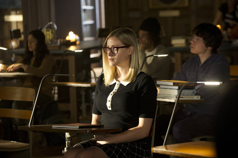 "THE MAGICIANS -- ""The Strangled Heart"" Episode 108 -- Pictured: Olivia Taylor Dudley as Alice -- (Photo by: Carole Segal/Syfy)"