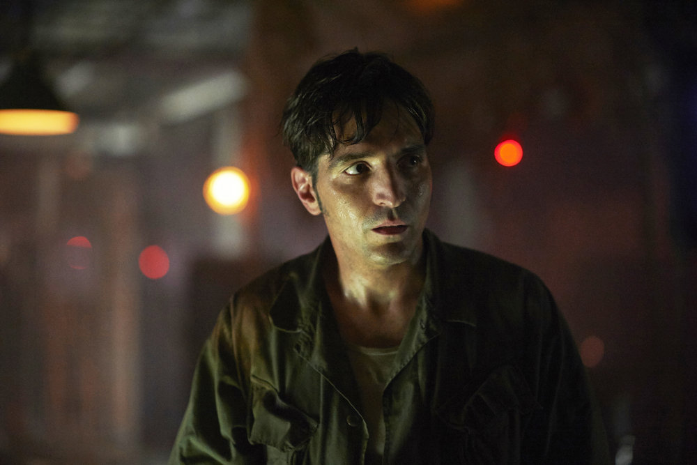 "12 MONKEYS -- ""Immortal"" Episode 206 -- Pictured: David Dastmalchian as Kyle Slade -- (Photo by: Russ Martin/Syfy)"