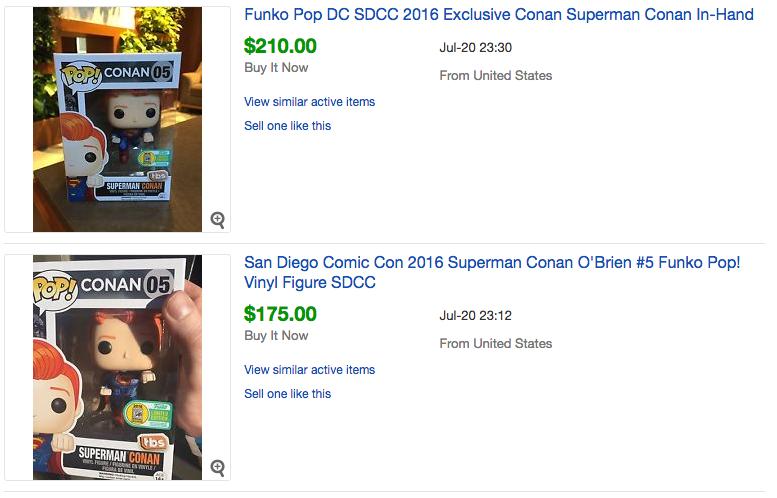 SDCC 2016 Conan POP! Figures