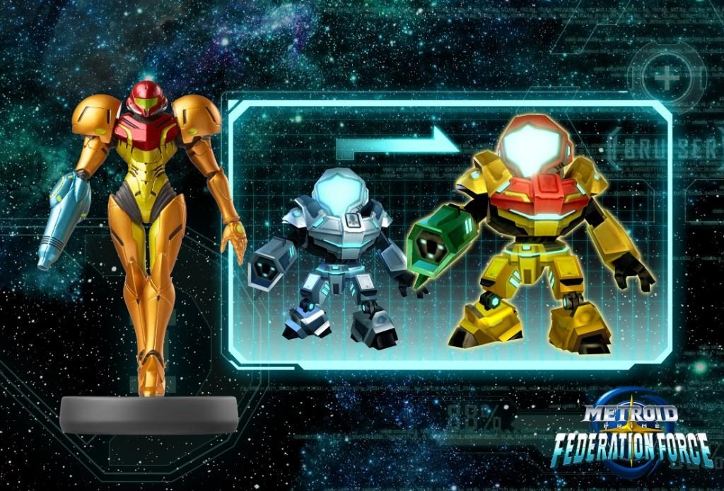 Metroid Prime Federation Force Samus Amiibo