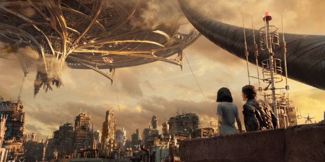 The City in the Sky from Alita: Battle Angel