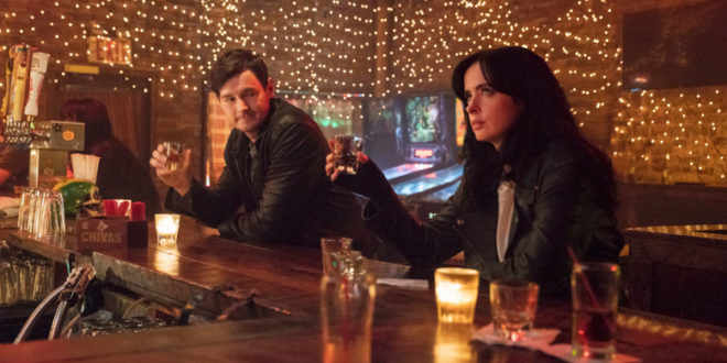 Jessica Jones as she drinks with new love interest: Erik