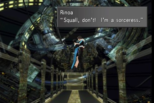 FFVIII Remastered, Squall and Rinoa just as he rescues her