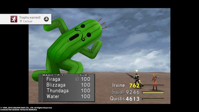 To Gain Cactuar You Must Defeat Jumbo Cactuar on Cactuar island