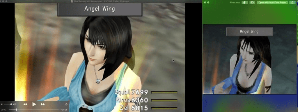 Changes to the Remaster showing a bit more censorship of Rinoa's cleavage