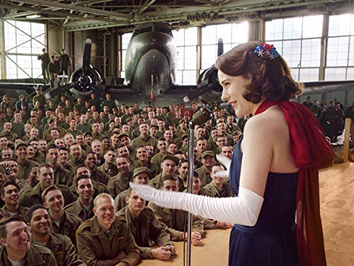 The Marvelous Mrs. Maisel talking to soldiers at USO tour