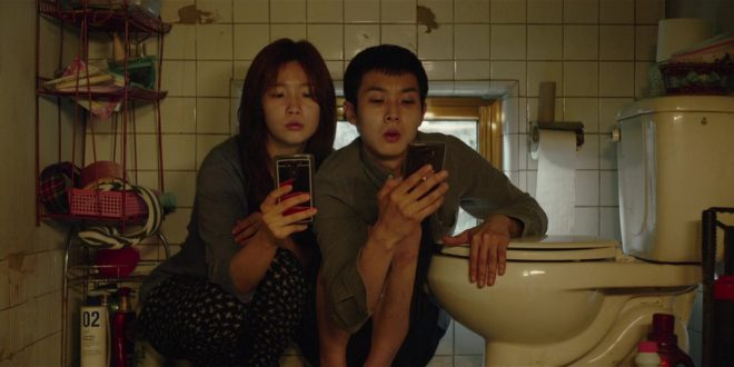 Woo-sik Choi, So-dam Park in Parasite