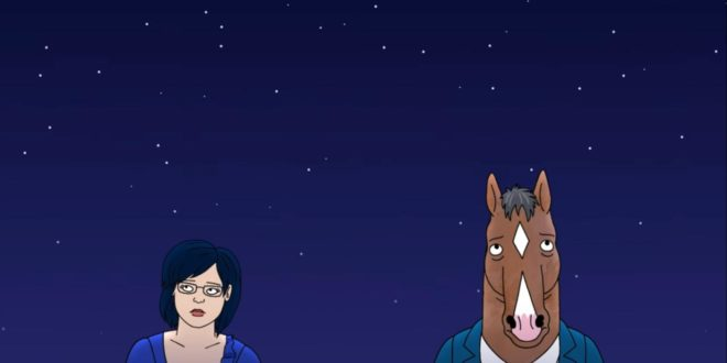 Diane and BoJack in the series finale of BoJack Horseman
