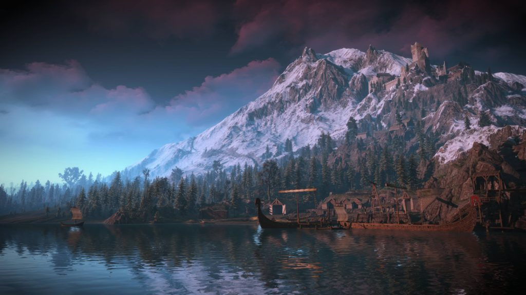 Beautiful mountains of Skellige