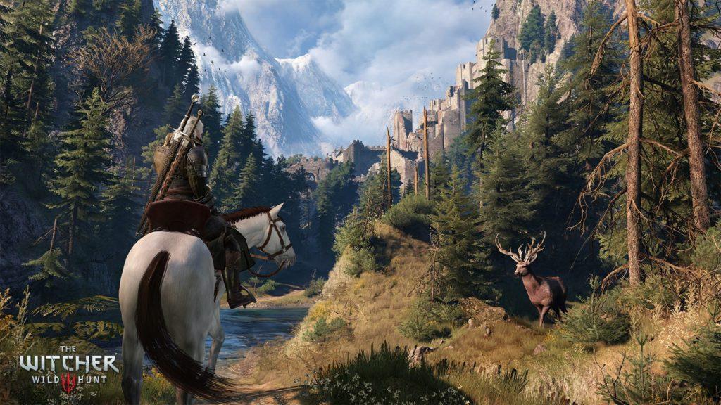 Geralt approaching Kaer Morhen