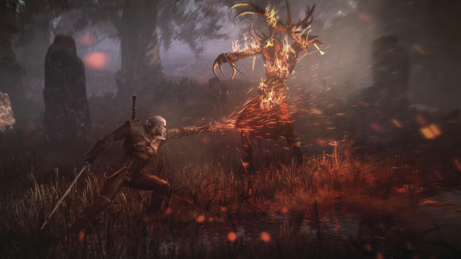 Witcher 3 Wildhunt Game of The Year Edition Geralt Igni Leshen