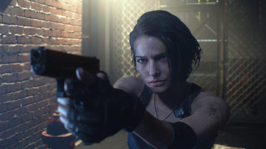 Jill Valentine aiming a gun
