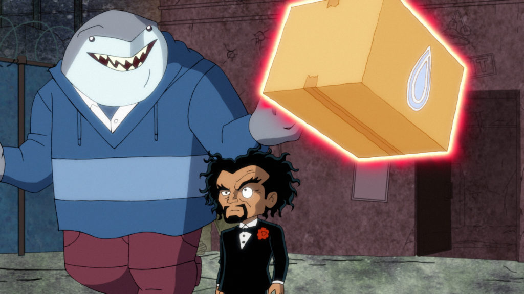 King Shark and Doctor Psycho steal a water purifier