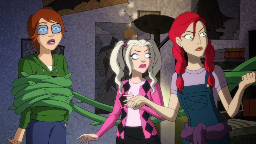 Babs, Harley, and Ivy in Bab's dorm room