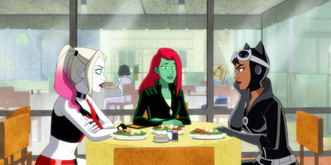 Harley, Ivy, and Catwoman discuss business