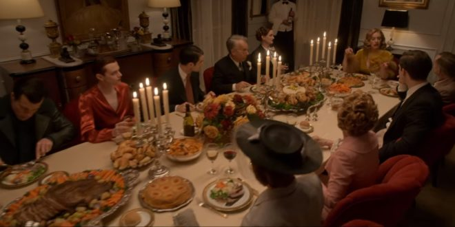 Tallulah tells a story at George Cukor's fancy dinner party