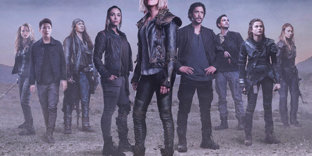 Clarke and her friends.