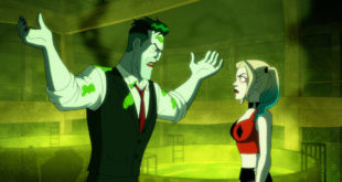 Harley and Joker arguing.