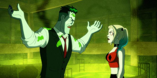 Harley and Joker arguing.