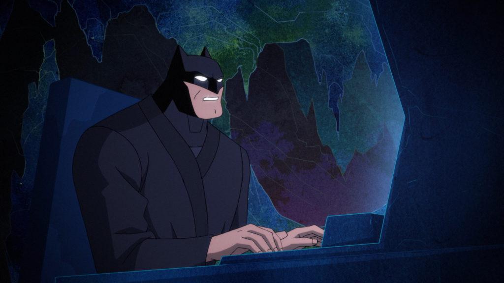 Batman on the Batcomputer.