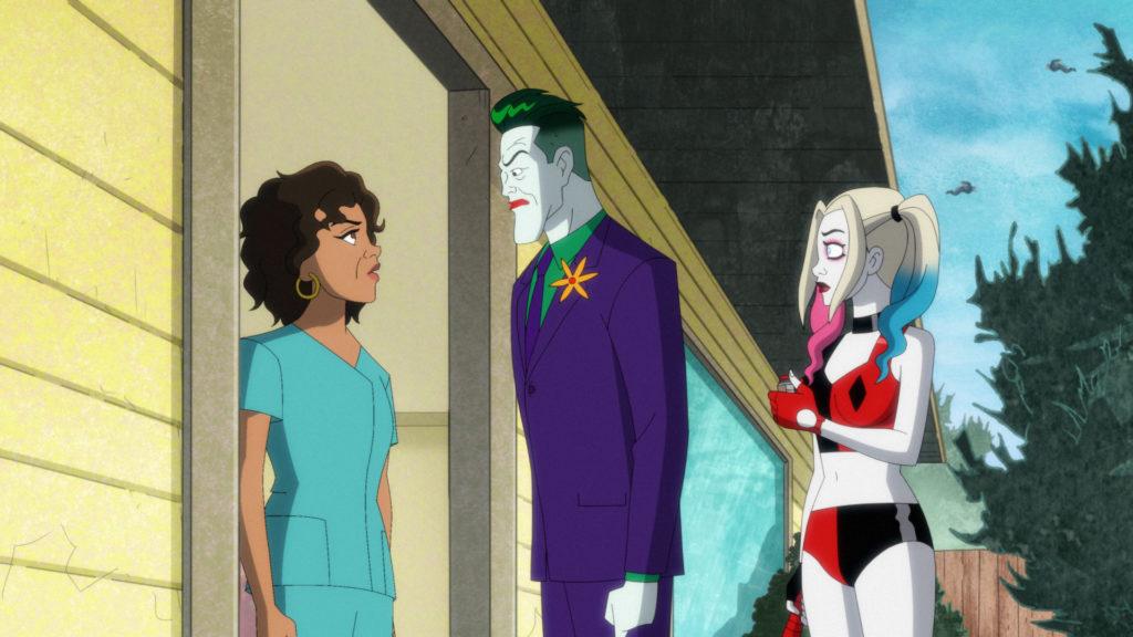 Bethany talks to Joker and Harley.