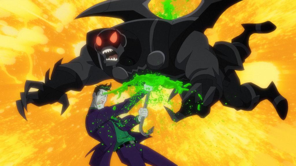 Joker beating up a Parademon.