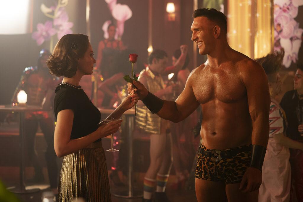 Left to Right: April Bowlby as Rita Farr and Devan Chander Long as Flex Mentallo