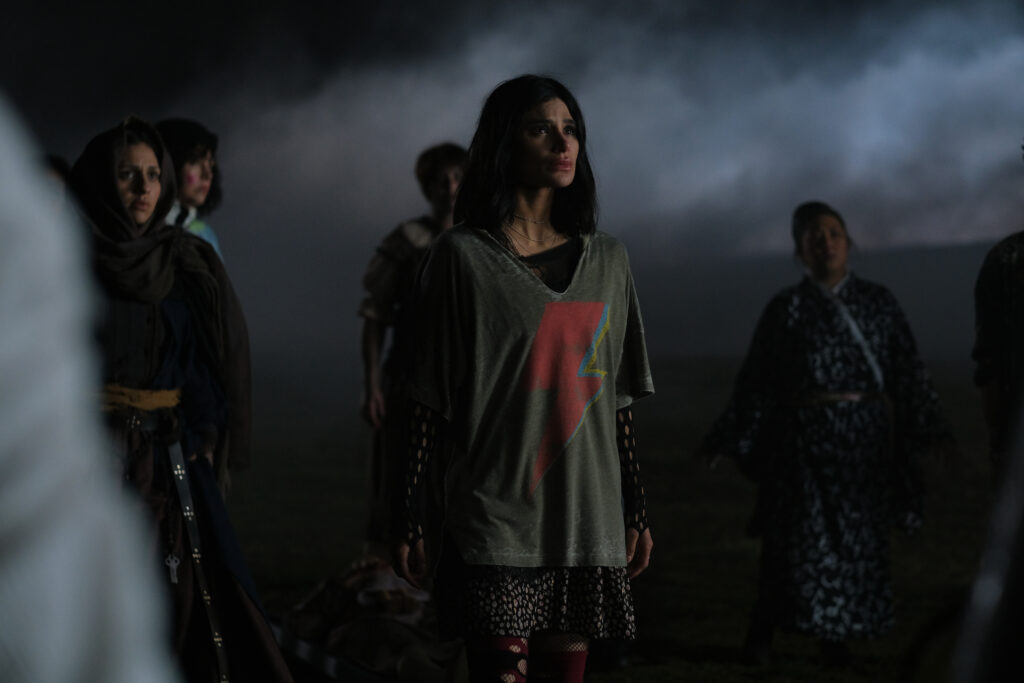 Diane Guerrero as Jane looking into the distance.