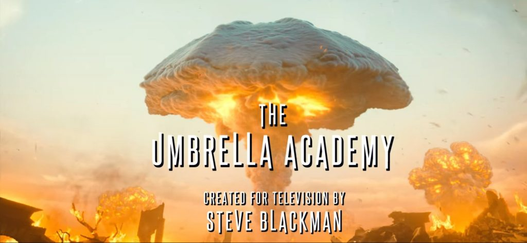 A bomb goes off indicating the second Armageddon Umbrella Academy Season 2 Episode 1 Right Back Where We Started