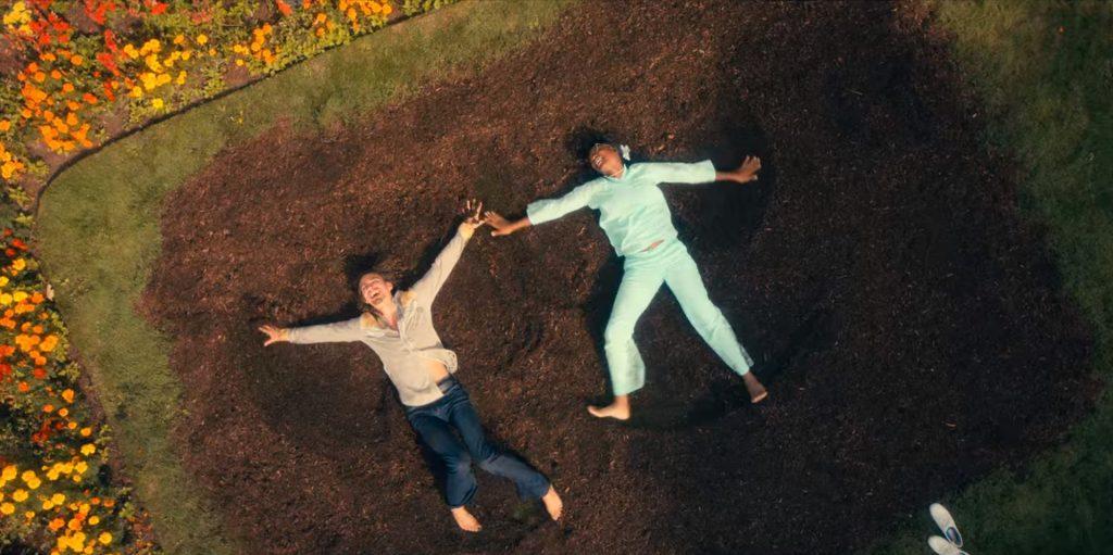 Klaus and Jill make dirt angels in S2 E7 Oga for Oga